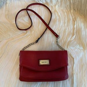 Nine West Mini Crossbody/Wristlet Cranberry Red